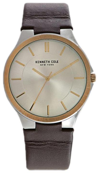 Kenneth Cole Herrklocka 10031328 Silverfärgad/Läder - Kenneth Cole