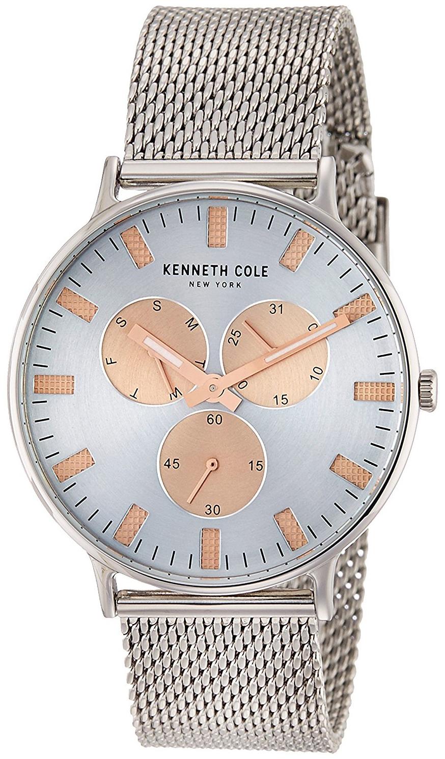 Kenneth Cole Fashion Herrklocka 10031469 Silverfärgad/Stål Ø41 mm - Kenneth Cole