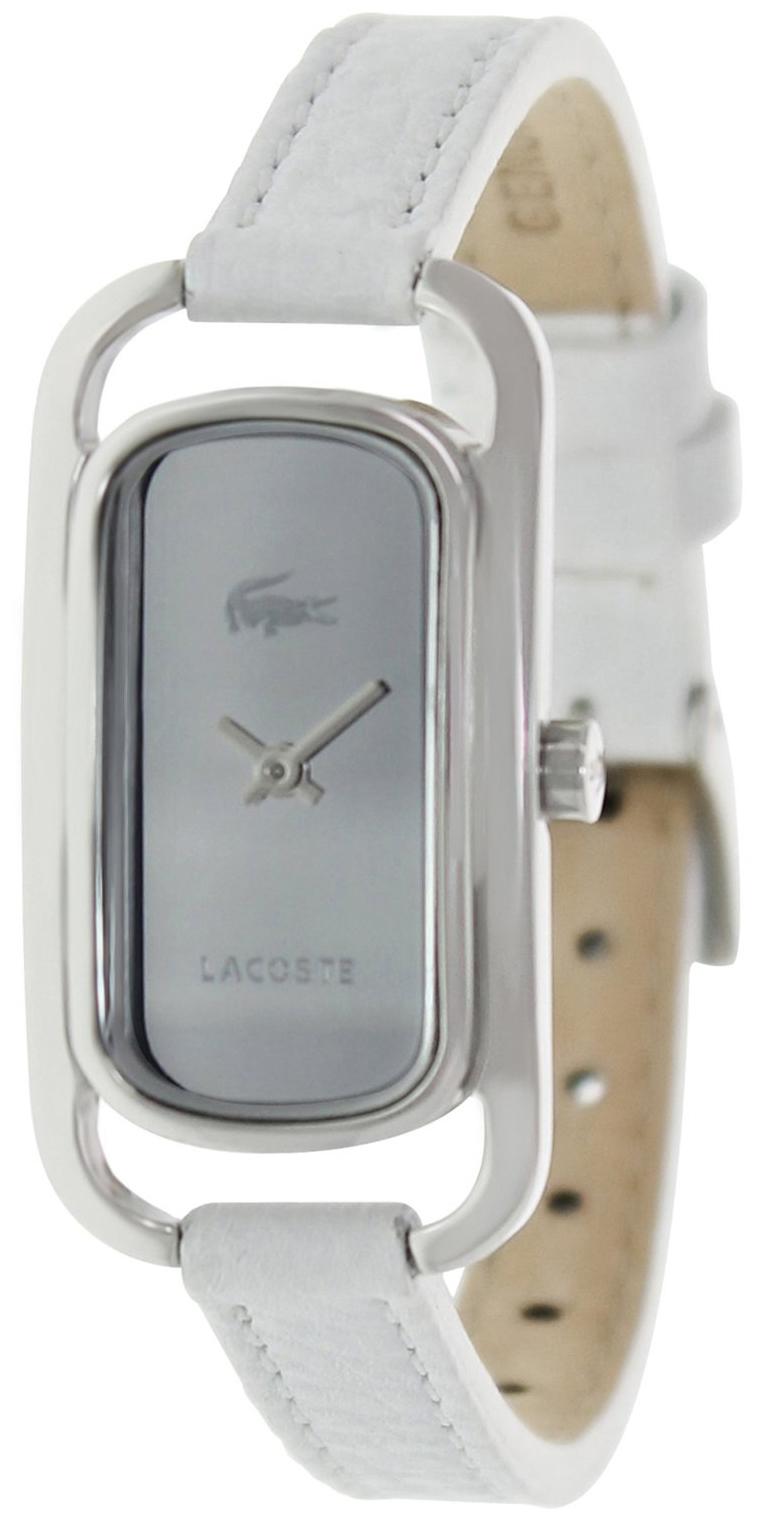 Lacoste Damklocka 2000723 Silverfärgad/Läder - Lacoste