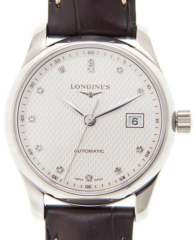 Longines Master Damklocka L2.257.4.77.3 Silverfärgad/Läder Ø29 mm - Longines