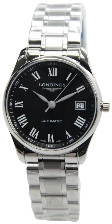 Longines Master Herrklocka L2.518.4.51.6 Svart/Stål Ø36 mm - Longines