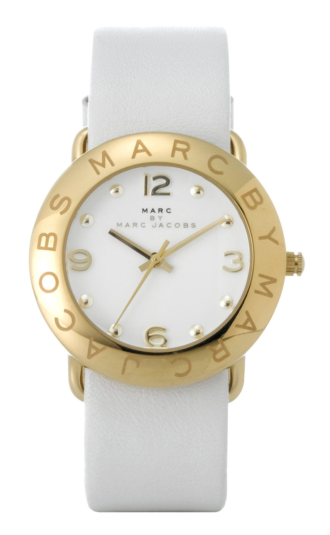 Marc by Marc Jacobs Amy Damklocka MBM1150 Vit/Läder Ø36 mm - Marc by Marc Jacobs