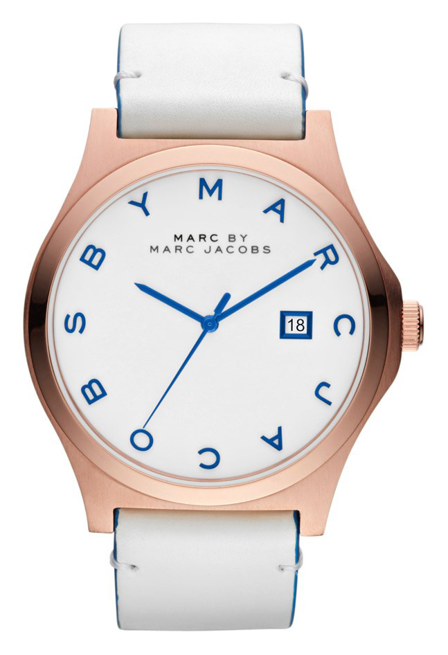 Marc by Marc Jacobs Henry Damklocka MBM1249 Vit/Läder Ø43 mm - Marc by Marc Jacobs