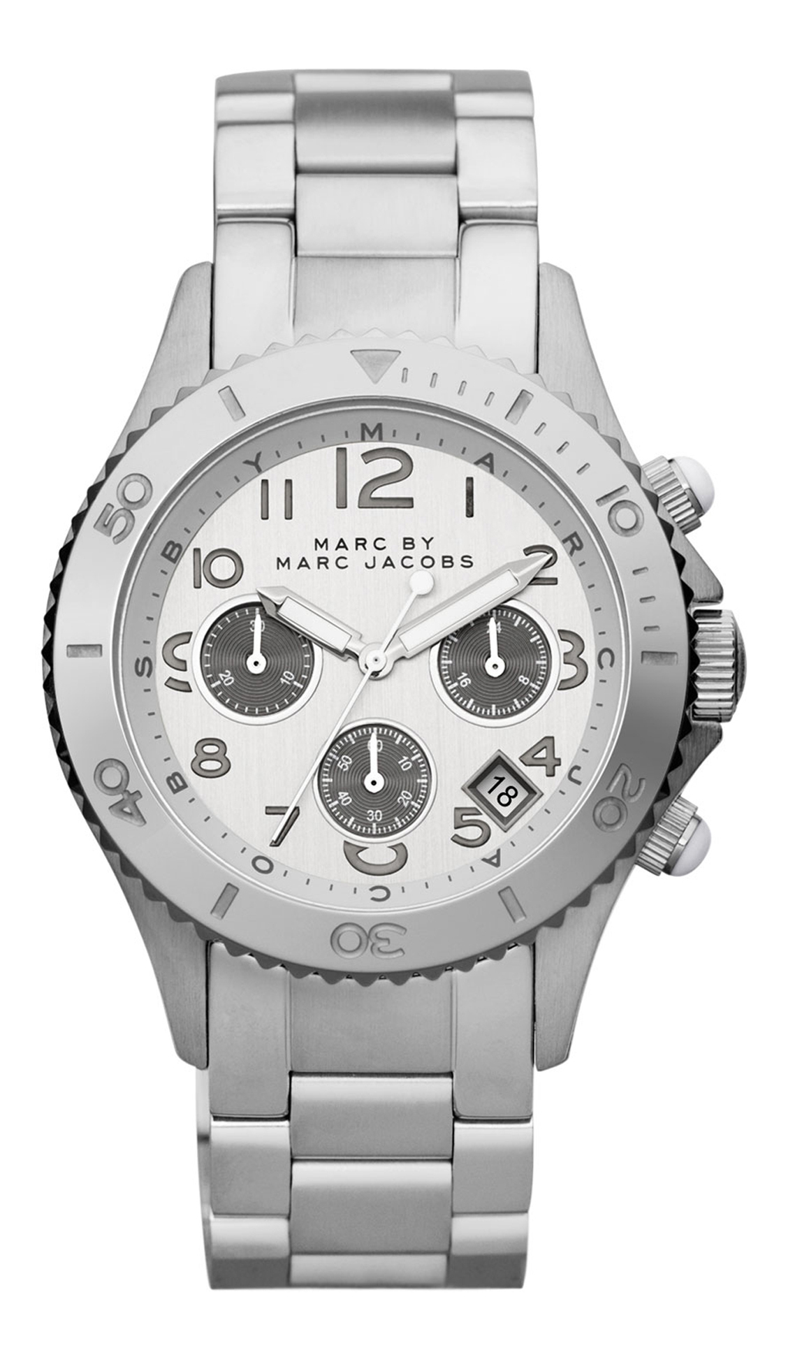 Marc by Marc Jacobs Rock Chrono Damklocka MBM3155 Silverfärgad/Stål Ø40 - Marc by Marc Jacobs