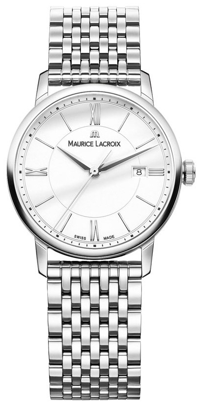 Maurice Lacroix Eliros Date Ladies Damklocka EL1094-SS002-110-1 Vit/Stål - Maurice Lacroix
