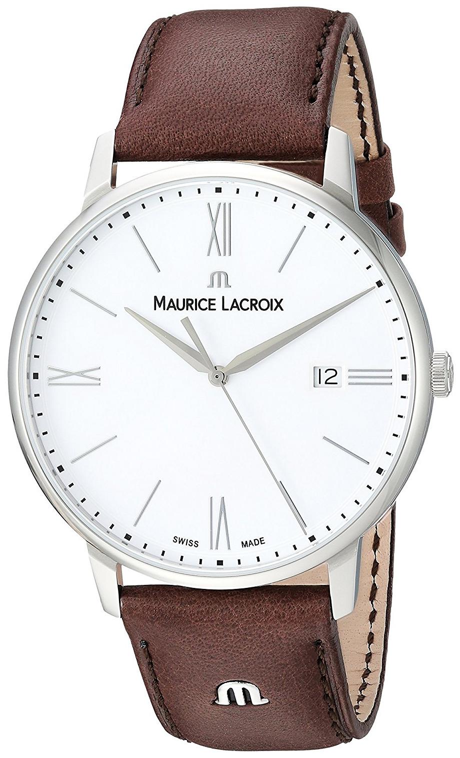 Maurice Lacroix Eliros Herrklocka EL1118-SS001-113-1 Vit/Läder Ø40 mm - Maurice Lacroix