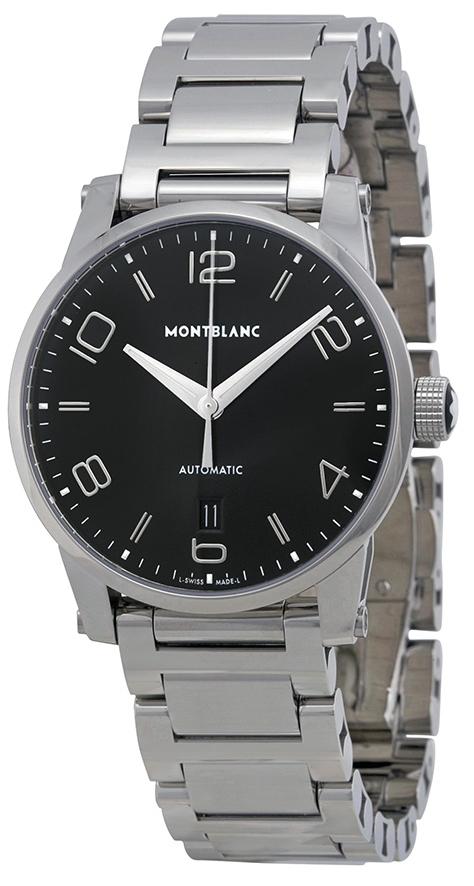 Montblanc Timewalker Herrklocka 110339 Svart/Stål Ø39 mm - Montblanc