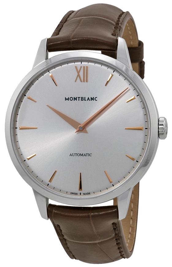 Montblanc Meisterstück Herrklocka 110695 Silverfärgad/Läder Ø41 mm - Montblanc