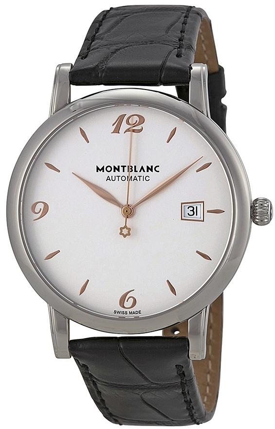 Montblanc Star Herrklocka 110717 Vit/Läder Ø39 mm - Montblanc
