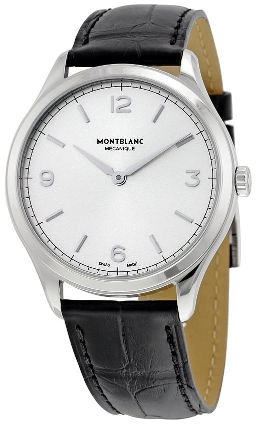 Montblanc Meisterstück Herrklocka 112515 Silverfärgad/Läder Ø38 mm - Montblanc