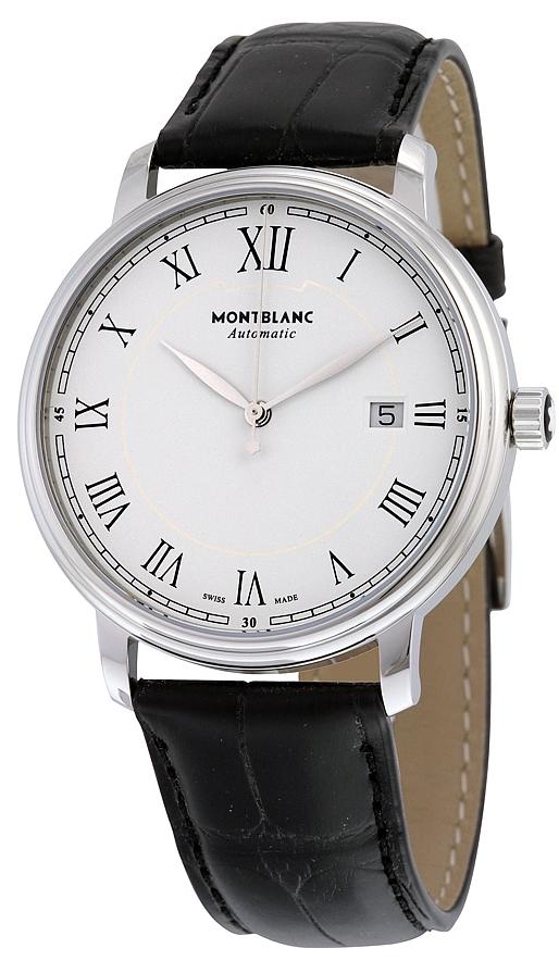 Montblanc Tradition Herrklocka 112609 Vit/Läder Ø40 mm - Montblanc