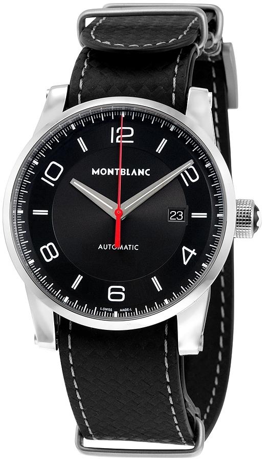 Montblanc Timewalker Herrklocka 113850 Svart/Läder Ø42 mm - Montblanc