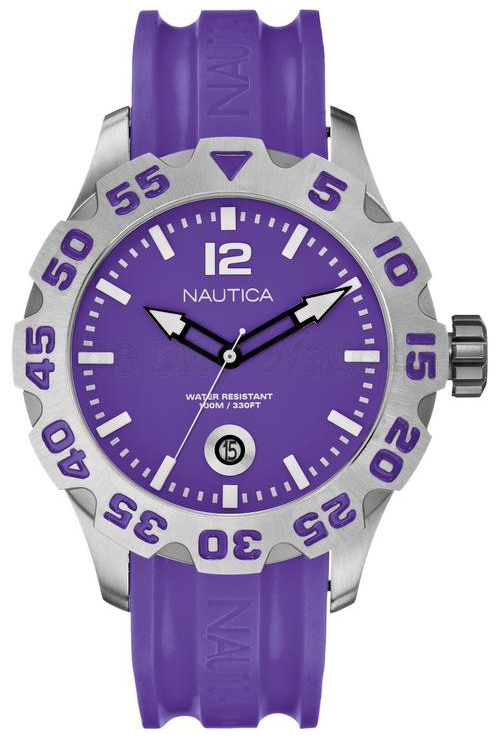Nautica BFD 100 Herrklocka A14606G Lila/Resinplast Ø46 mm - Nautica