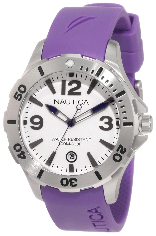Nautica BFD 101 Herrklocka N11551M Vit/Resinplast Ø38 mm - Nautica