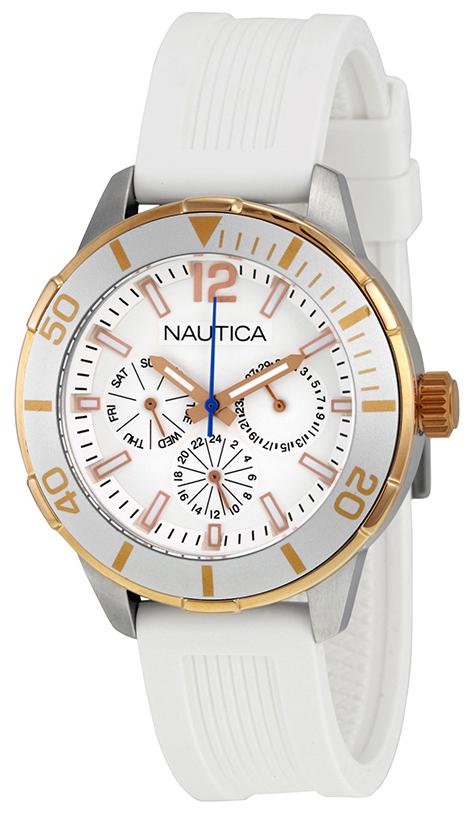 Nautica 99999 Herrklocka N15631M Vit/Resinplast Ø42 mm - Nautica