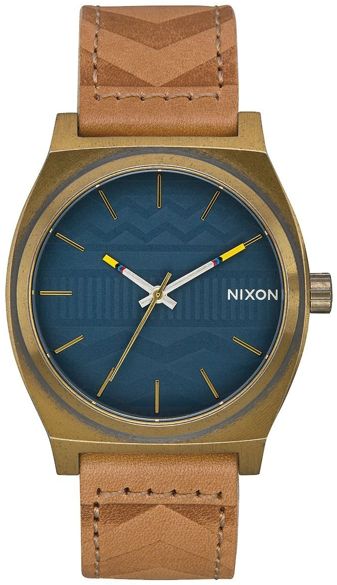 Nixon The Time Teller Herrklocka A0452731-00 Blå/Läder Ø37 mm - Nixon