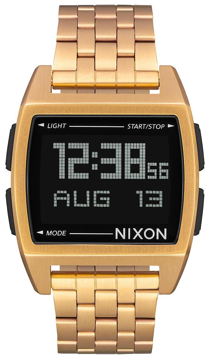 Nixon 99999 Herrklocka A1107502-00 LCD/Gulguldtonat stål - Nixon