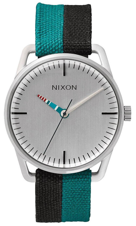 Nixon The Mellor Herrklocka A1292008-00 Silverfärgad/Textil Ø38 mm - Nixon