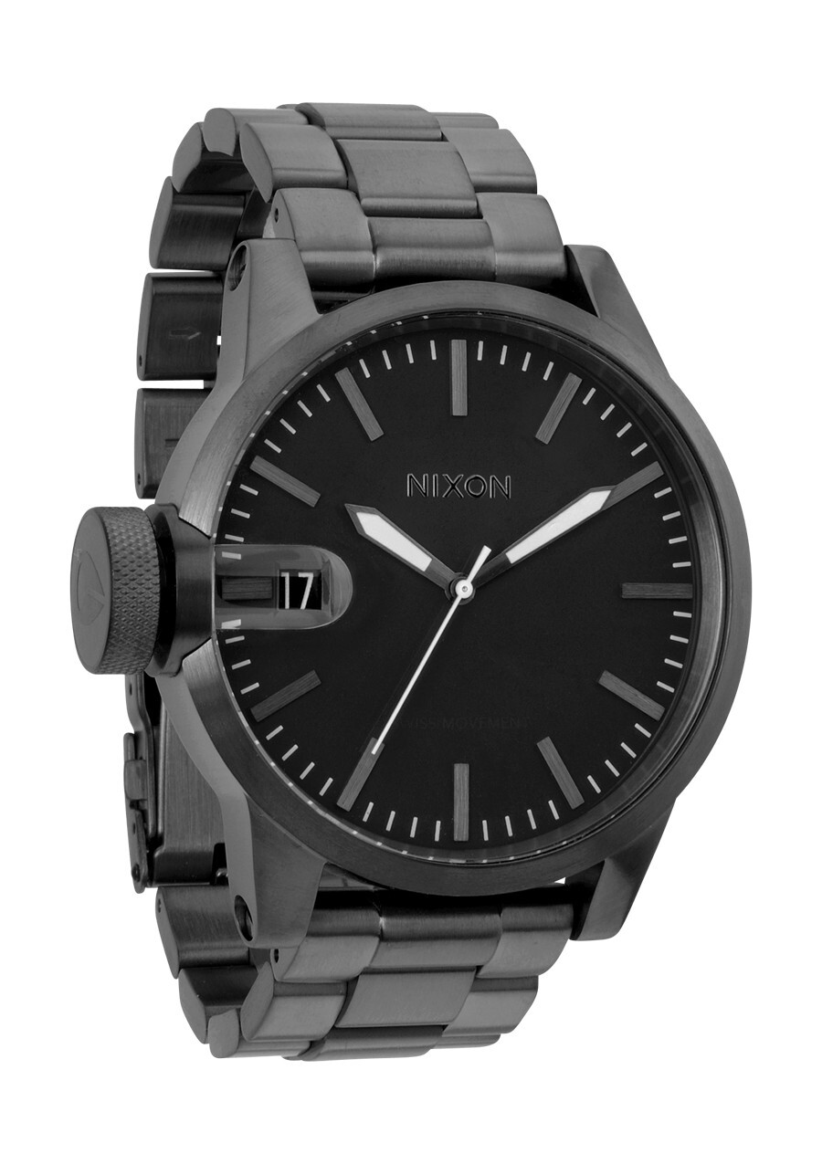 Nixon The Chronicle SS Herrklocka A198632-00 Svart/Stål Ø48.5 mm - Nixon