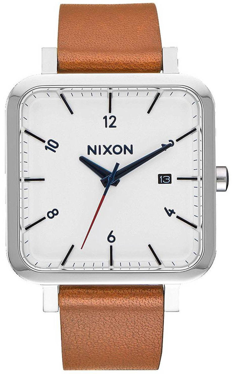 Nixon 99999 Herrklocka A9852312-00 Vit/Läder - Nixon