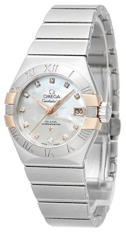 Omega Constellation Co-Axial 27mm Damklocka 123.20.27.20.55.004 Vit/Stål - Omega