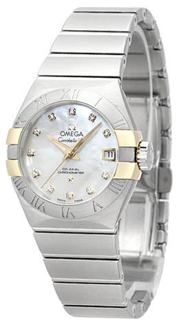 Omega Constellation Co-Axial 27mm Damklocka 123.20.27.20.55.005 Vit/Stål - Omega