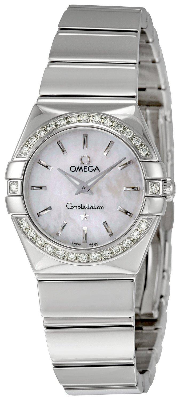 Omega Constellation Quartz 24mm Damklocka 123.15.24.60.05.002 Vit/Stål - Omega