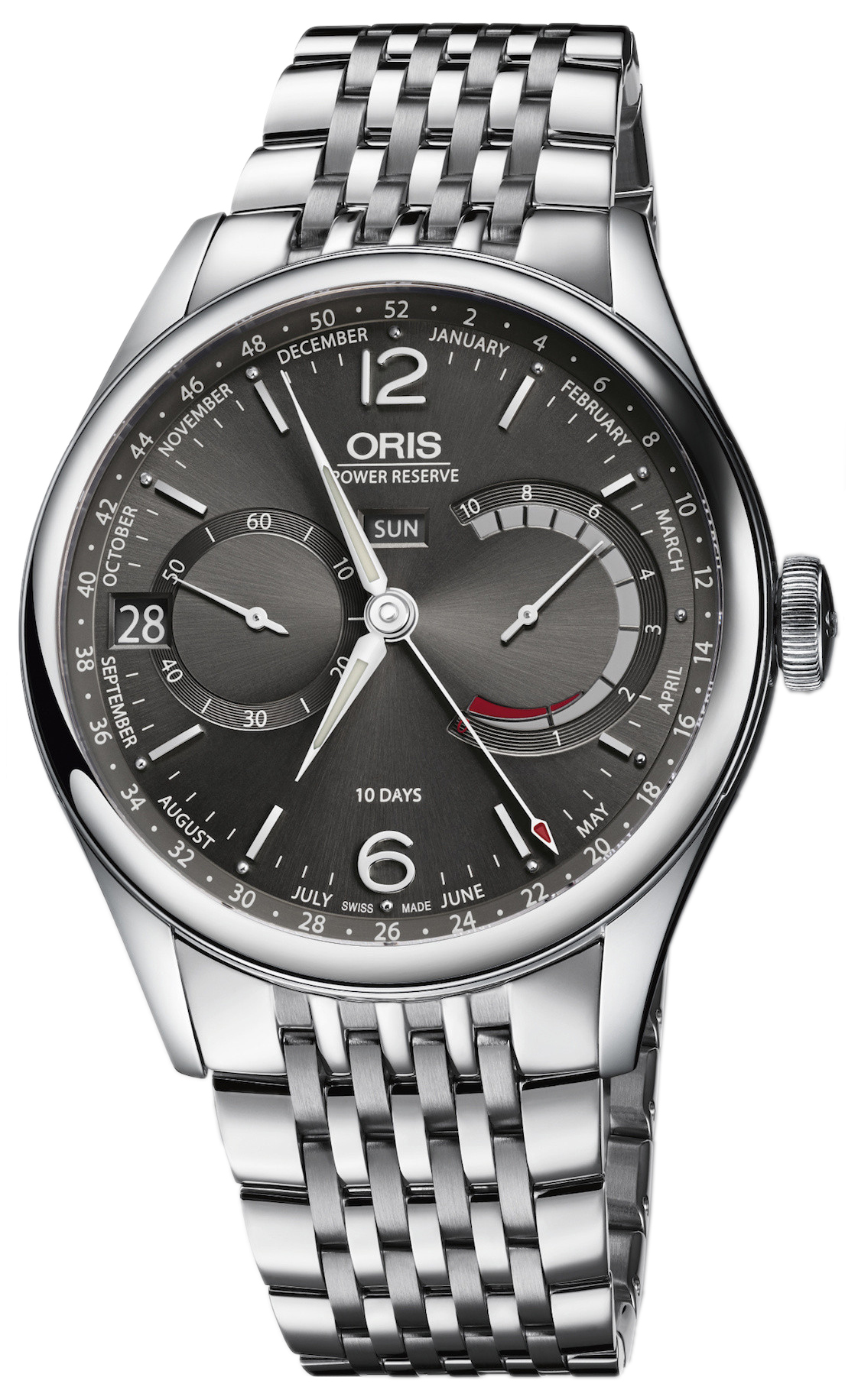 Oris Culture Herrklocka 01 113 7738 4063-Set 8 23 79PS Grå/Stål Ø43 mm - Oris