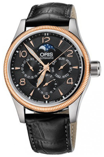 Oris Aviation Herrklocka 01 582 7678 4364-07 5 20 76FC Svart/Läder Ø40 mm - Oris