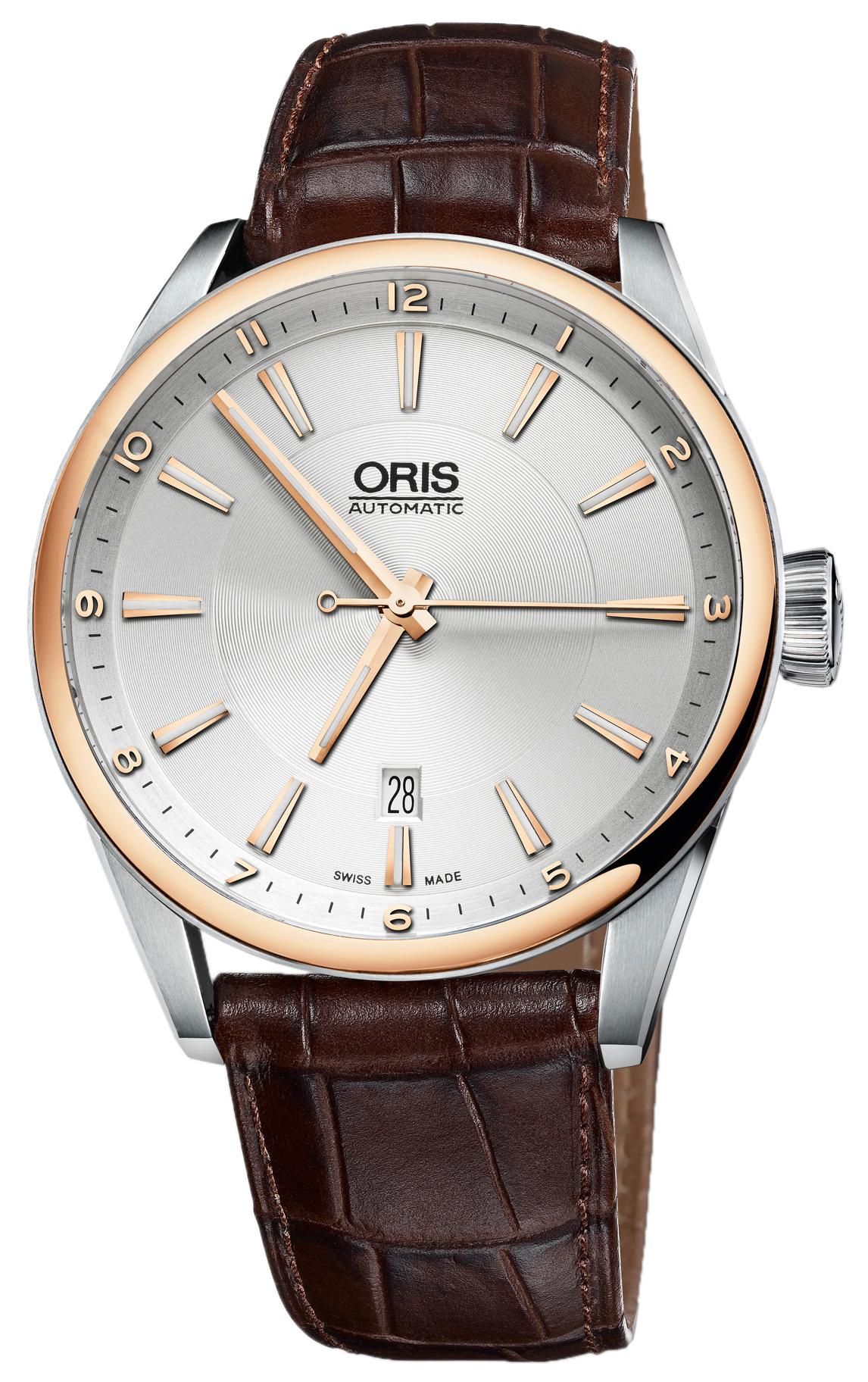 Oris Culture Herrklocka 01 733 7642 6331-07 5 21 80FC Silverfärgad/Läder - Oris