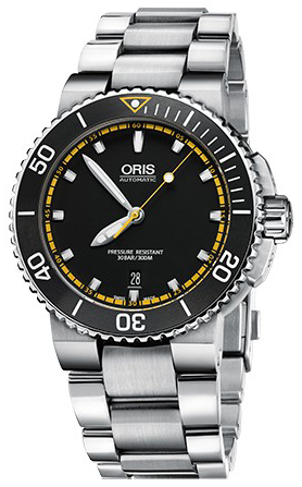 Oris Diving Herrklocka 01 733 7653 4127-07 8 26 01PEB Svart/Stål Ø43 mm - Oris