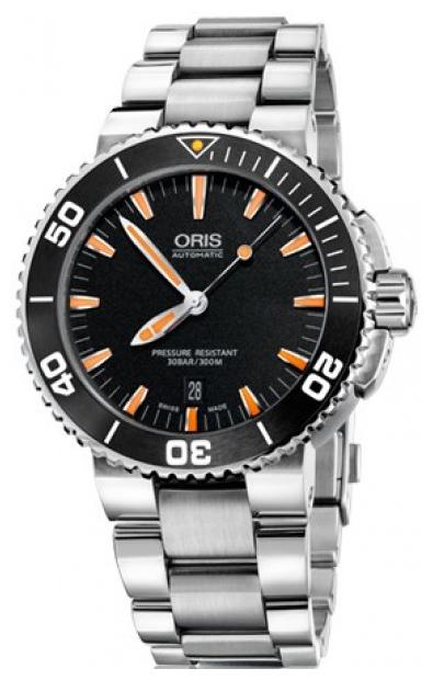 Oris Divers Herrklocka 01 733 7653 4159-07 8 26 01PEB Svart/Stål Ø43 mm - Oris