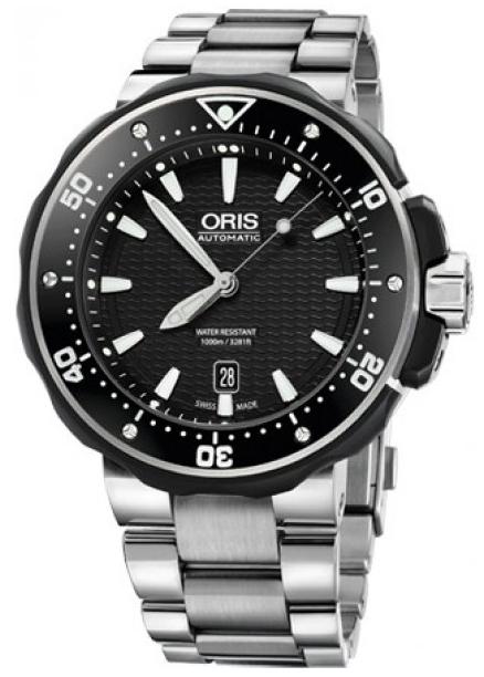 Oris Divers Herrklocka 01 733 7682 7154-07 8 26 75PEB Svart/Titan Ø49 mm - Oris