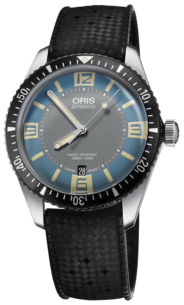 Oris Diving Herrklocka 01 733 7707 4065-07 4 20 18 Flerfärgad/Gummi Ø40 - Oris
