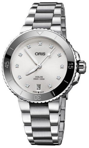 Oris Diving Damklocka 01 733 7731 4191-07 8 18 05P Vit/Stål Ø36.5 mm - Oris