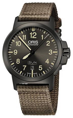 Oris Aviation Herrklocka 01 735 7641 4263-07 5 22 22G Grå/Textil Ø42 mm - Oris
