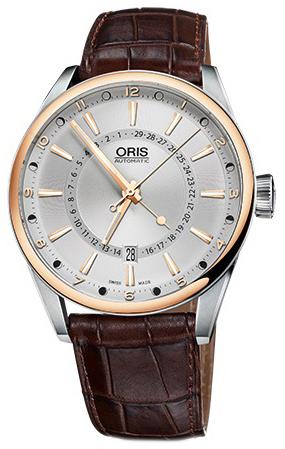 Oris Culture Herrklocka 01 761 7691 6331-07 5 21 80FC Silverfärgad/Läder - Oris