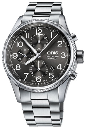 Oris Aviation Herrklocka 01 774 7699 4063-07 8 22 19 Grå/Stål Ø44 mm - Oris