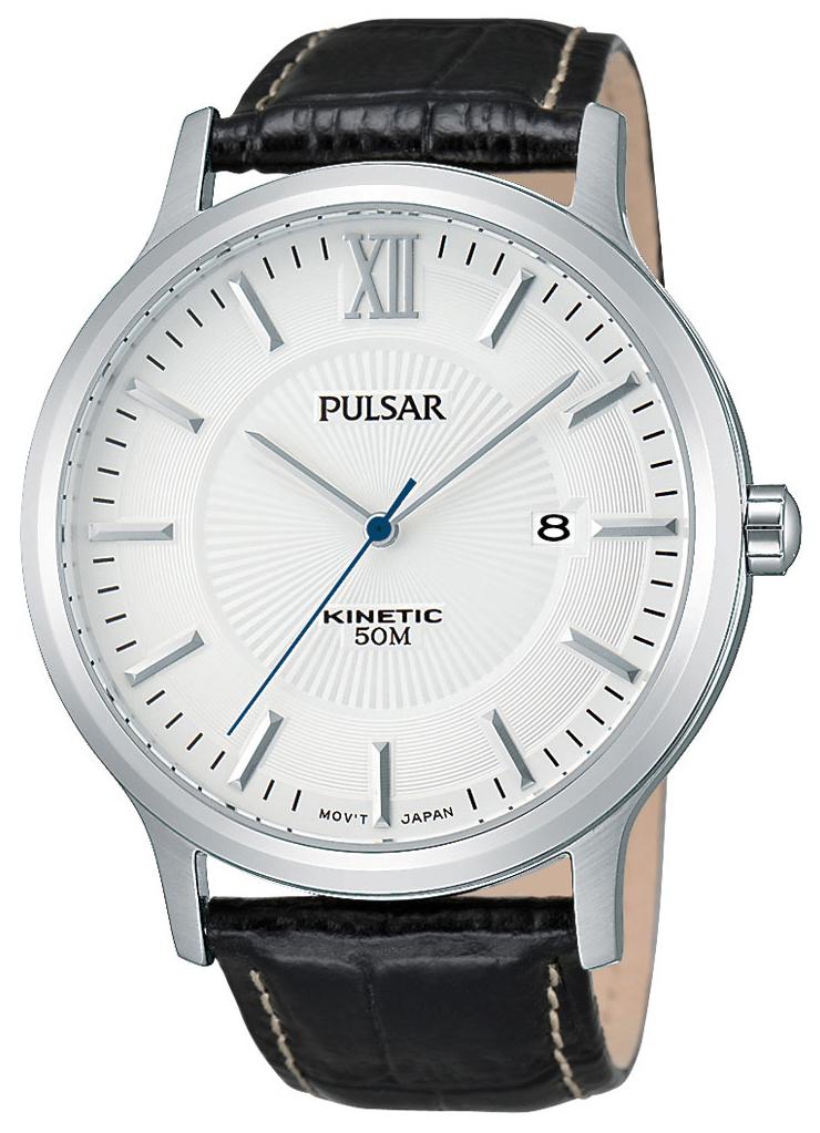Pulsar Dress Herrklocka PAR187X1 Silverfärgad/Läder Ø44 mm - Pulsar