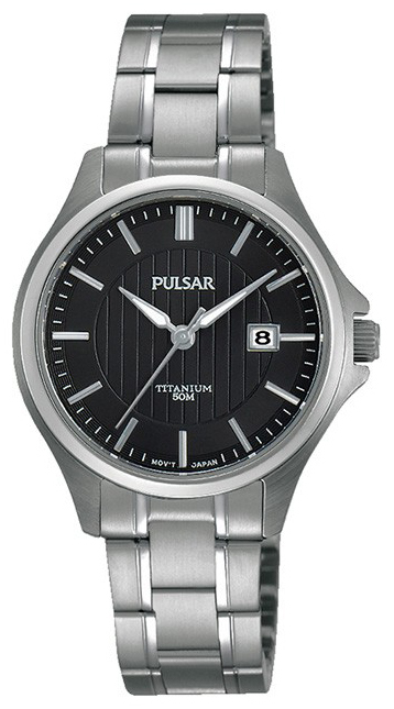 Pulsar Dress Damklocka PH7437X1 Svart/Titan Ø30 mm - Pulsar