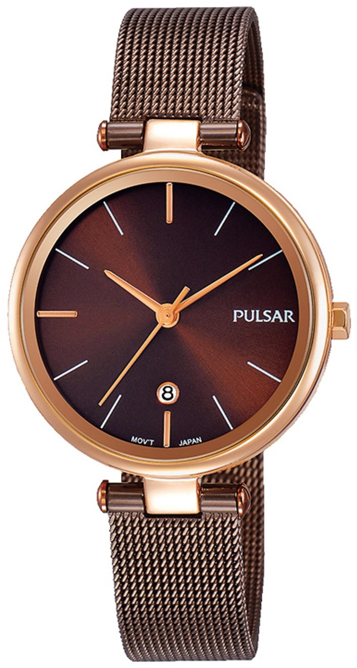 Pulsar Dress Damklocka PH7466X1 Brun/Stål Ø29 mm - Pulsar