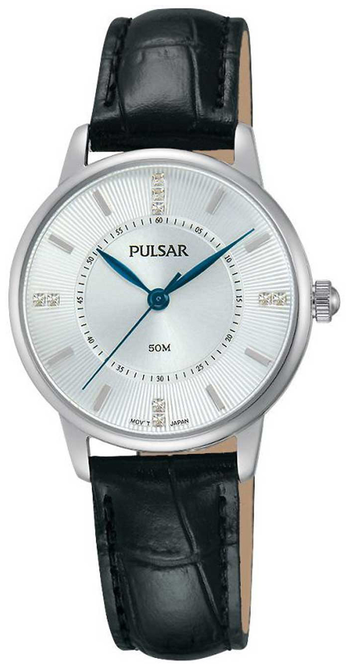 Pulsar Dress Damklocka PH8177X1 Silverfärgad/Läder Ø29 mm - Pulsar