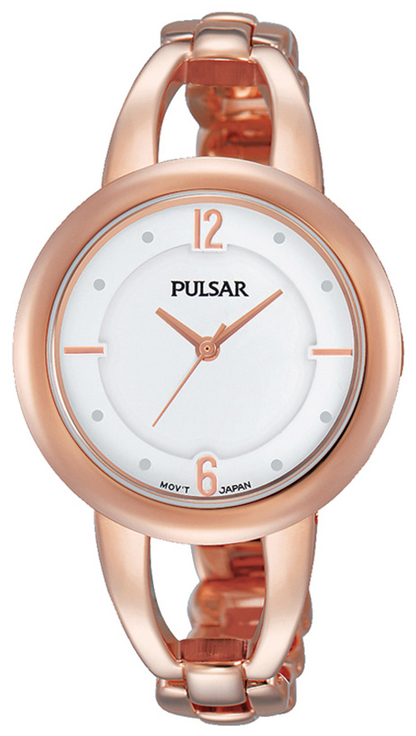 Pulsar Dress Damklocka PH8208X1 Vit/Roséguldstonat stål Ø33 mm - Pulsar