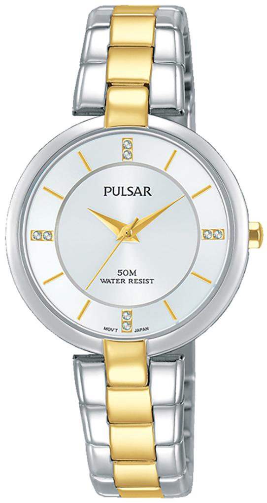 Pulsar Attitude Damklocka PH8314X1 Silverfärgad/Gulguldtonat stål Ø30 mm - Pulsar