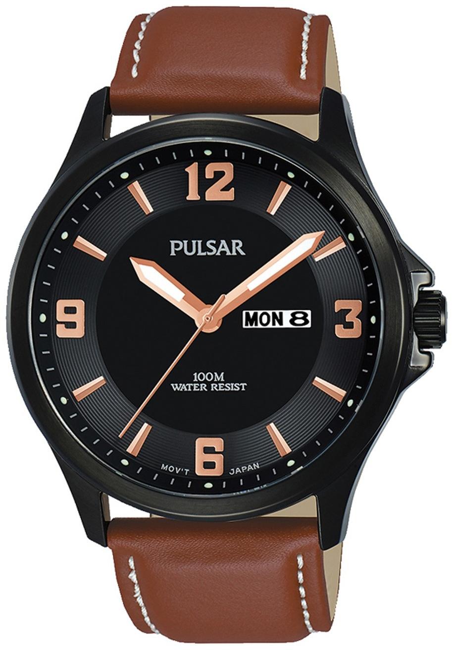 Pulsar Dress Herrklocka PJ6091X1 Svart/Läder Ø42 mm - Pulsar