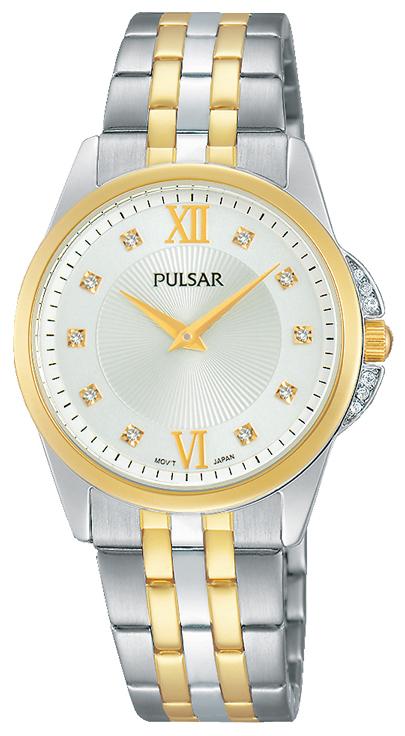 Pulsar Dress Damklocka PM2165X1 Vit/Gulguldtonat stål Ø30 mm - Pulsar