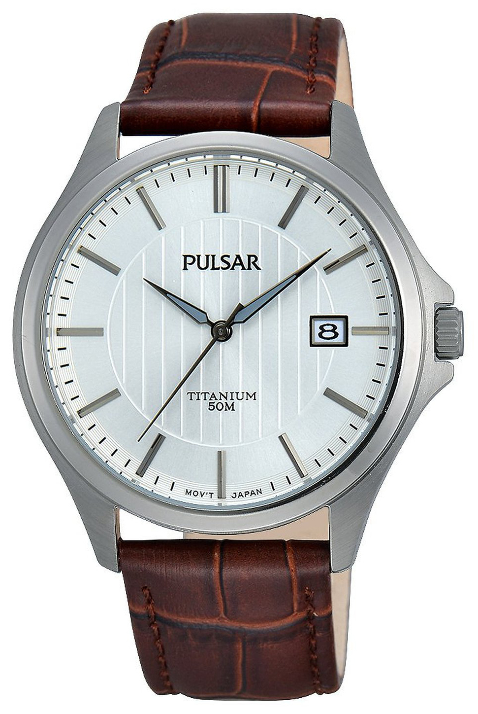 Pulsar Dress Herrklocka PS9435X1 Vit/Läder Ø40 mm - Pulsar