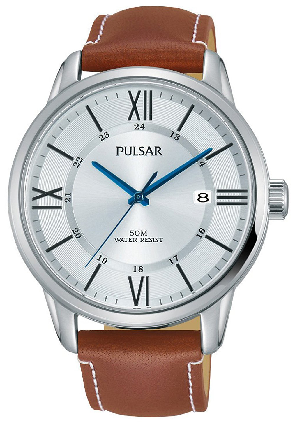 Pulsar Dress Herrklocka PS9469X1 Silverfärgad/Läder Ø42 mm - Pulsar