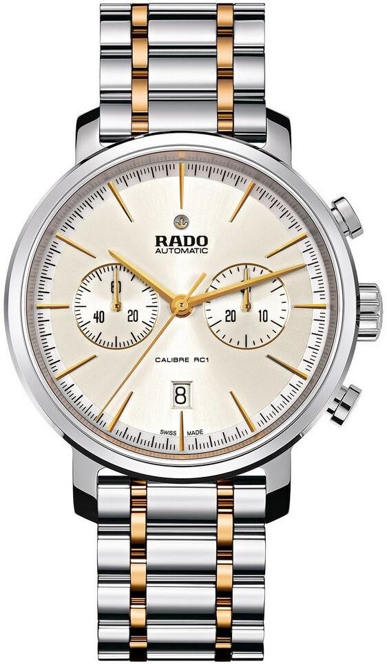 Rado Diamaster Herrklocka R14070103 Silverfärgad/Gulguldtonat stål Ø45 - Rado