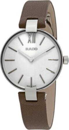 Rado Coupole Damklocka R22850015 Silverfärgad/Läder Ø32.5 mm - Rado